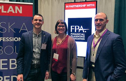 Grant Meyer, Tiffany Walker, Corey Purkat at Healthy Life Expo