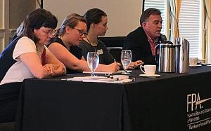 Pro Bono Workshop Non-Profit Panel: Suzy Wheeler- FamilyMeans, Christine Hazuka and Kate Siess - Prepare + Prosper, John Hoffman - Consumer Credit of Minnesota